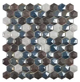 Mo Sapelly mix hex  3,5x3,5 - Hansas Plaadimaailm