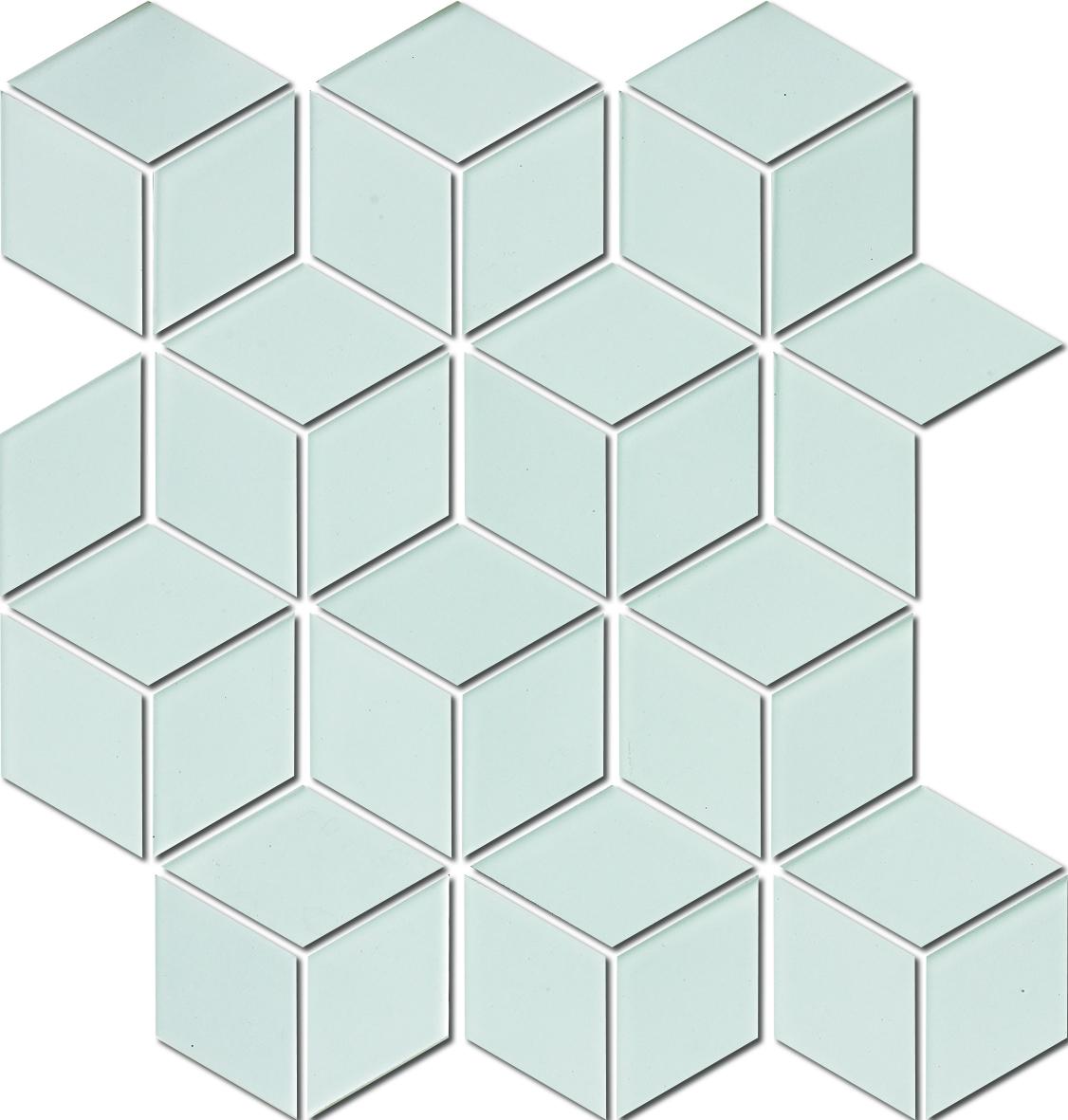 DIAMOND HEX WHITE HPAW6570 MATT R10 48x48mm (260x300) - Hansas Plaadimaailm