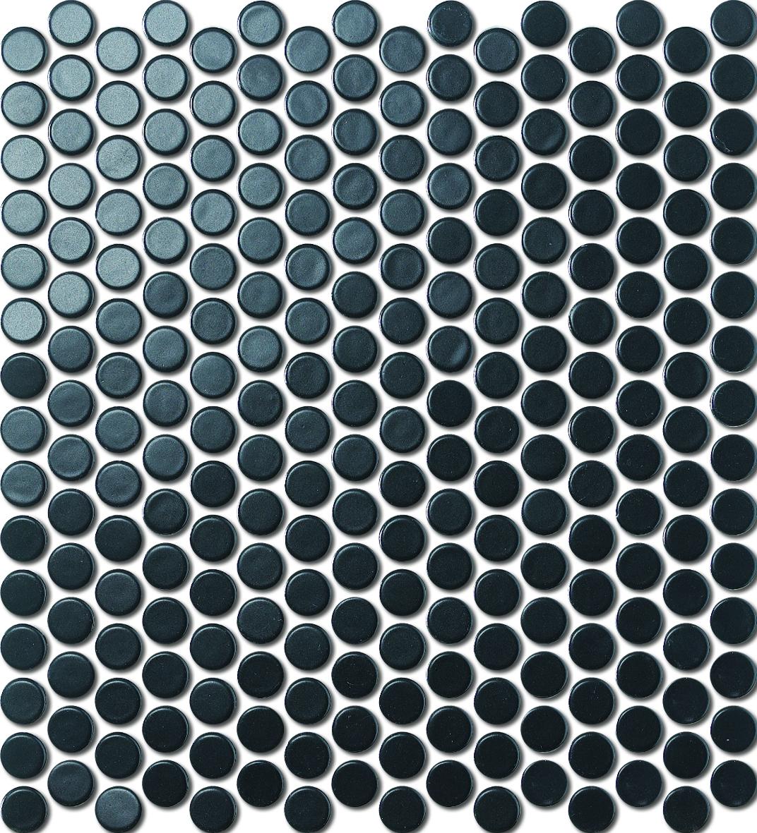 PENNY ROUND BLACK MATT HL0003 R10 19mm - Hansas Plaadimaailm