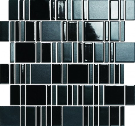 BLOCK STRIPE BLACK HAA002MIX R10 10,5+23+28x48mm - Hansas Plaadimaailm