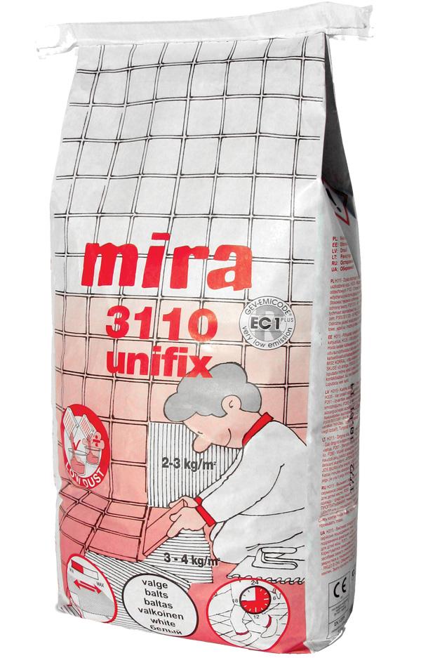Mira 3110 unifix valge, C2TE S1 5kg - Hansas Plaadimaailm