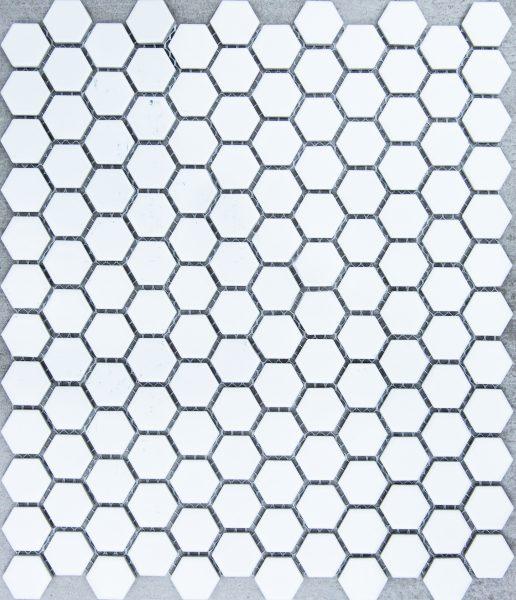 HEXAGON WHITE MATT small HU0101 R10 23x26mm - Hansas Plaadimaailm