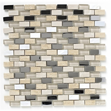Mosaiik Natural Stone Mix Brick BCT38498 15x30mm - Hansas Plaadimaailm