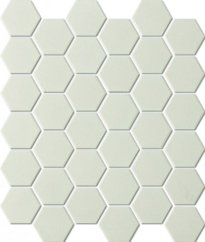 UNGLAZED HEXAGON WHITE SHC23229 R11 51x59mm - Hansas Plaadimaailm