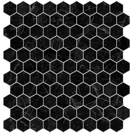 Supreme Marquina hex 4221H 3,5x3,5 - Hansas Plaadimaailm