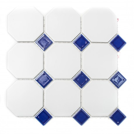 Mosaiik Octa blau 9,5x9,5 - Hansas Plaadimaailm