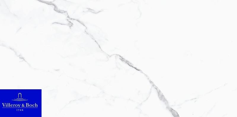 Nocturne white polished 2730-ZN1P rect. 60x120x1 - Hansas Plaadimaailm