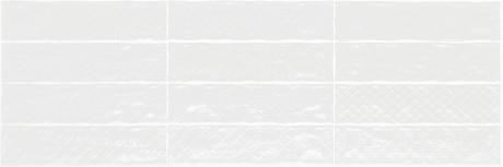 Sirocco decor white glossy 7,5x30 - Hansas Plaadimaailm